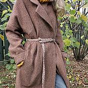 Одежда ручной работы. Ярмарка Мастеров - ручная работа Пальто-халат, без подкладки.. Handmade.