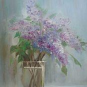 Картины и панно handmade. Livemaster - original item Lilac, painting, oil 30h40. Handmade.