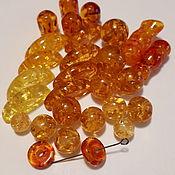 Набор бусин из янтаря медового  28 шт.