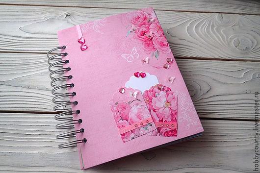 """Блокноты ручной работы. Ярмарка Мастеров - ручная работа. Купить Девичий смэшбук """"Принцесса"""". Handmade. Розовый, блокнот в подарок"""