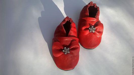 Детские тапочки- чешки`Бантик` .домашняя обувь.пинетки(от0-3лет) Наталья