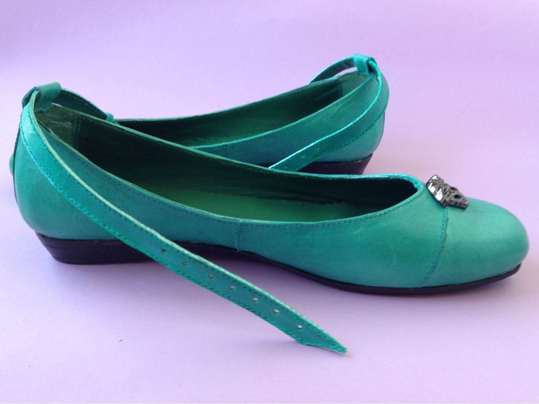 Handmade Shoes handmade. Livemaster - handmade. Buy Ballet flats, malachite.Handmade shoes, ballet flats leather