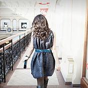 """Одежда ручной работы. Ярмарка Мастеров - ручная работа """"Графит"""" платье нуновойлочное. Handmade."""