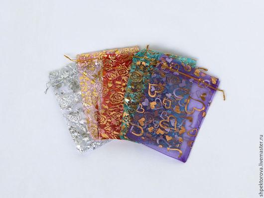 Упаковка ручной работы. Ярмарка Мастеров - ручная работа. Купить Подарочные мешочки из органзы 13х18см. Handmade. Разноцветный, упаковка для подарков