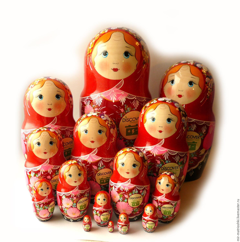 Matryoshka 15. logo h 32 cm, Dolls1, Sarov,  Фото №1