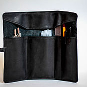 Канцелярские товары handmade. Livemaster - original item Pencil case made of genuine leather. Handmade.