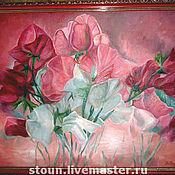 """Картины и панно ручной работы. Ярмарка Мастеров - ручная работа """"Цветочная поэзия"""". Handmade."""