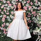 Одежда handmade. Livemaster - original item Dress white dorovska style.Sundress AMODAY.. Handmade.
