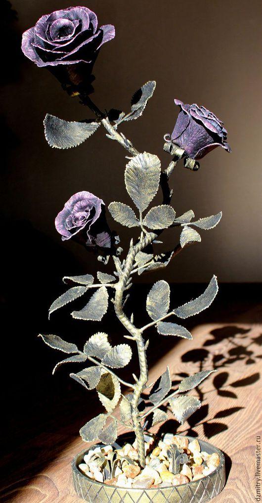 Интерьерные композиции ручной работы. Ярмарка Мастеров - ручная работа. Купить Кованые розы. Handmade. Кованая роза, сувениры и подарки