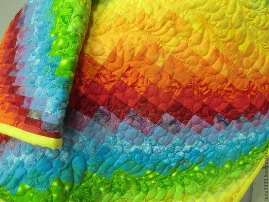 Текстиль, ковры ручной работы. Ярмарка Мастеров - ручная работа. Купить Радуга. Handmade. Пэчворк, лоскутное покрывало, лоскутное одеяло