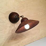 Для дома и интерьера handmade. Livemaster - original item Ceramic wall lamp with a rotating reflector(diameter 24 cm). Handmade.