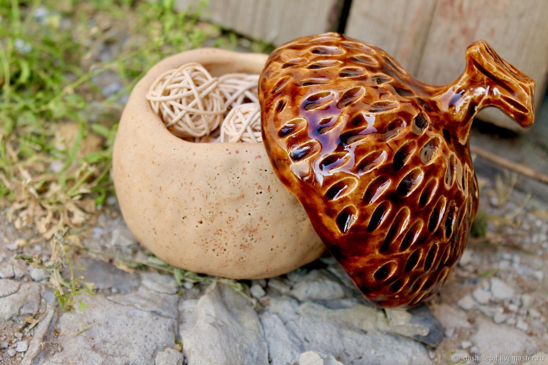 Handmade sugar bowl jar Acorn, Sugar Bowls, Saratov,  Фото №1