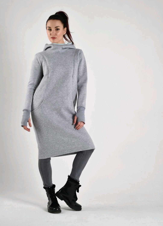 ... Для будущих и молодых мам ручной работы. Теплое платье для кормления и  беременных мам. a88fd1fb3b5