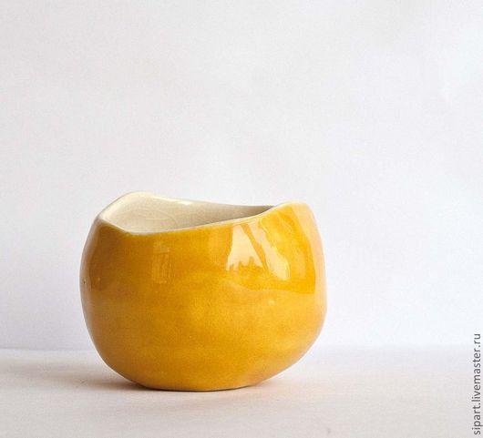 """Пиалы ручной работы. Ярмарка Мастеров - ручная работа. Купить Пиала """"Лимонная шкурка"""". Handmade. Керамика ручной работы"""