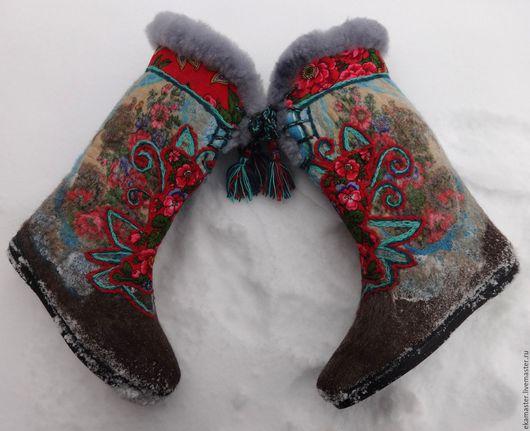 """Обувь ручной работы. Ярмарка Мастеров - ручная работа. Купить Валенки """"Русское гулянье"""". Handmade. Валенки, валенки ручной работы"""