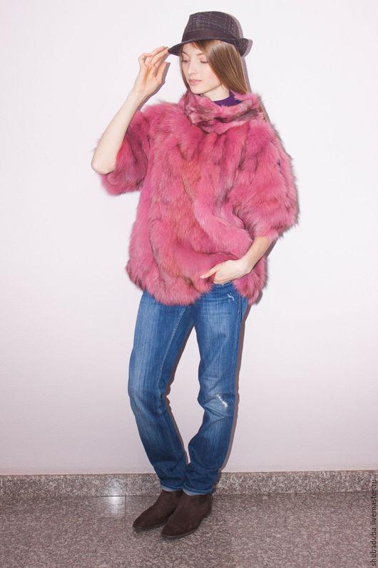 Верхняя одежда ручной работы. Ярмарка Мастеров - ручная работа. Купить Меховой свитер. Handmade. Розовый, Тренд сезона