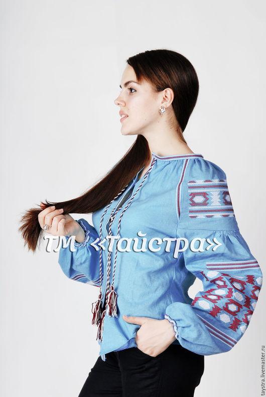 Этническая одежда ручной работы. Ярмарка Мастеров - ручная работа. Купить Блуза вышитая  женская ,лен,бохо, этно стиль  Vita Kin,Bohemia. Handmade.