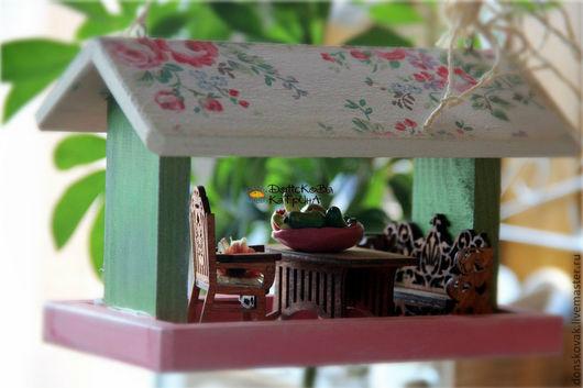 Персональные подарки ручной работы. Ярмарка Мастеров - ручная работа. Купить Веранда шебби-шик (подвеска-миниатюра). Handmade. подвески