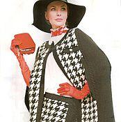 """Одежда ручной работы. Ярмарка Мастеров - ручная работа """" Париж"""" классика авторский комплект( кейп и юбка). Handmade."""