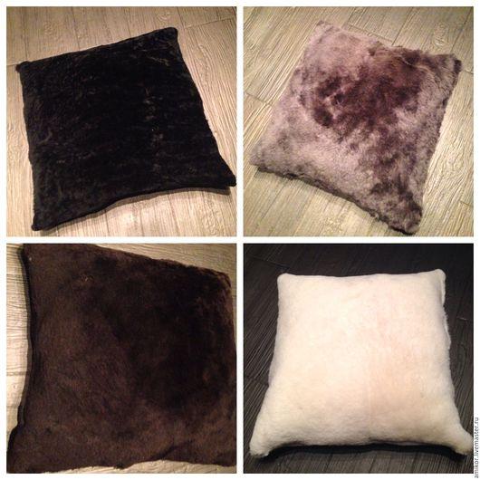 Текстиль, ковры ручной работы. Ярмарка Мастеров - ручная работа. Купить Подушки из овчины. Handmade. Комбинированный, Натуральная овчина