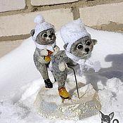 Куклы и игрушки ручной работы. Ярмарка Мастеров - ручная работа Мишки на льду. Handmade.