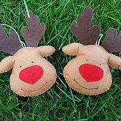 Елочные игрушки ручной работы. Ярмарка Мастеров - ручная работа Фетровые игрушки на елку. Handmade.