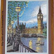 """Картины и панно ручной работы. Ярмарка Мастеров - ручная работа Картина """"Закат над Темзой"""". Handmade."""