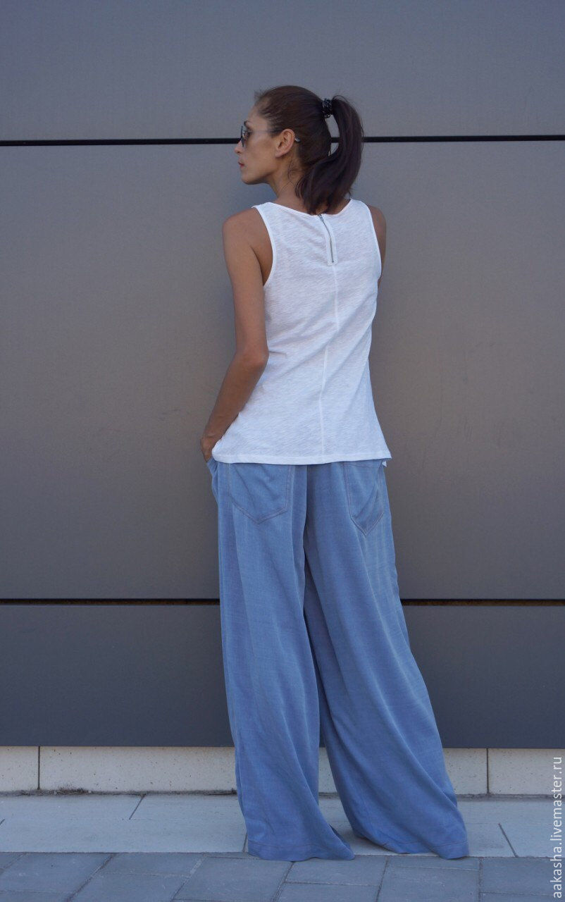 Широкие летние брюки доставка