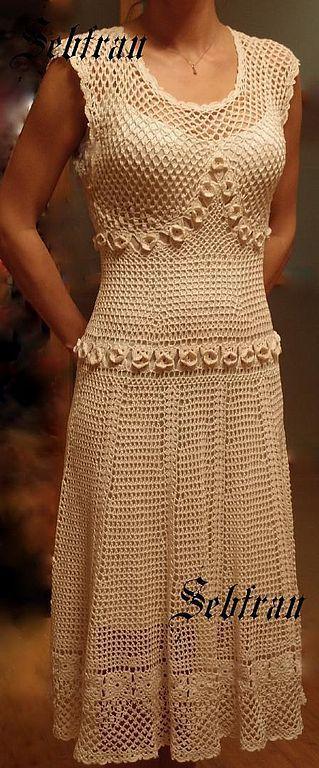 """Платья ручной работы. Ярмарка Мастеров - ручная работа. Купить Платье """"Лето"""". Handmade. Крючок, белый"""