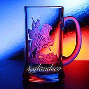 Бокалы ручной работы. Ярмарка Мастеров - ручная работа Кружка для пива 3D!!! 1,2 л. Handmade.