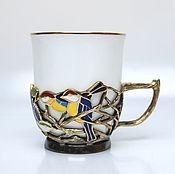 Чашки ручной работы. Ярмарка Мастеров - ручная работа Чашка Птицы. Handmade.