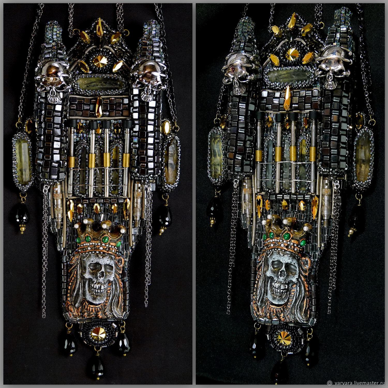 Замок с привидением. Конкурсное колье Swarovski  Череп, Колье, Чебоксары,  Фото №1