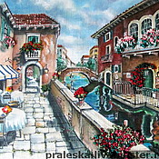 Картины и панно ручной работы. Ярмарка Мастеров - ручная работа картина После полудня в Венеции, по Р.Пейману. Handmade.