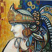 Картины и панно ручной работы. Ярмарка Мастеров - ручная работа Портрет с фотографии в стиле Климта (портрет по фотографии). Handmade.