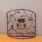 Для дома и интерьера ручной работы. Ярмарка Мастеров - ручная работа Экран сова. Handmade.