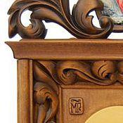 Картины и панно ручной работы. Ярмарка Мастеров - ручная работа Икона. Резьба по дереву.. Handmade.