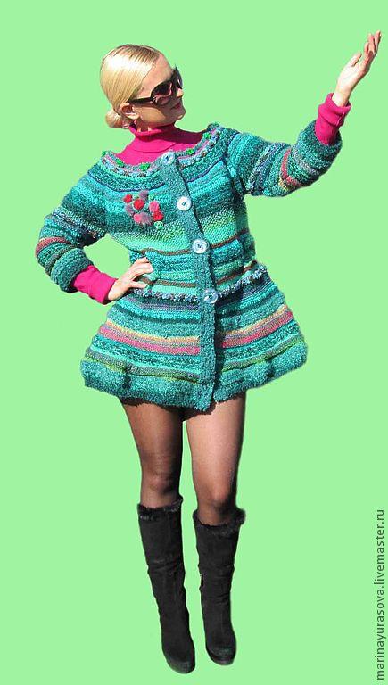 """Верхняя одежда ручной работы. Ярмарка Мастеров - ручная работа. Купить Пальто """"Изумрудная Леди"""". Handmade. Ярко-зелёный"""