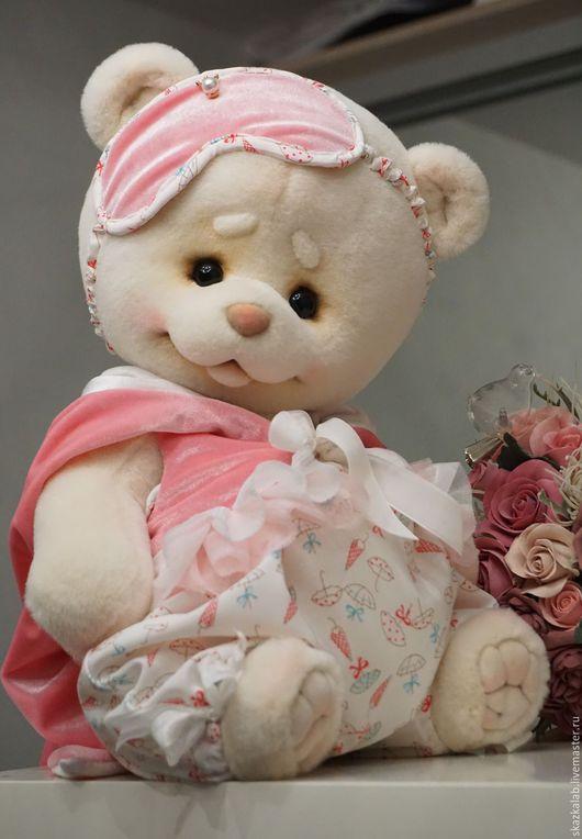 Мишки Тедди ручной работы. Ярмарка Мастеров - ручная работа. Купить Rosie. Handmade. Белый, пушистый, бамбуковое волокно