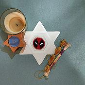 Подарки к праздникам handmade. Livemaster - original item Pin (icon) Deadpool. Handmade.