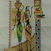 """Картины и панно ручной работы. Ярмарка Мастеров - ручная работа Вышитое трио """"Африка"""". Handmade."""