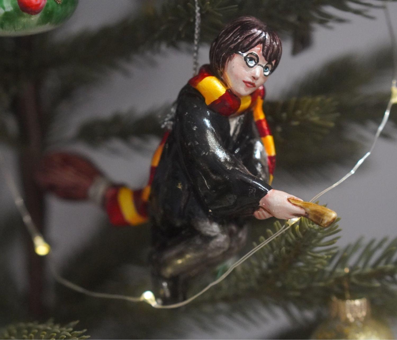 Елочная игрушка, фарфоровая елочная игрушка Гарри Поттер, Хогвартс, Елочные игрушки, Москва,  Фото №1