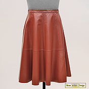 Одежда handmade. Livemaster - original item The bell skirt of leather or suede. Handmade.