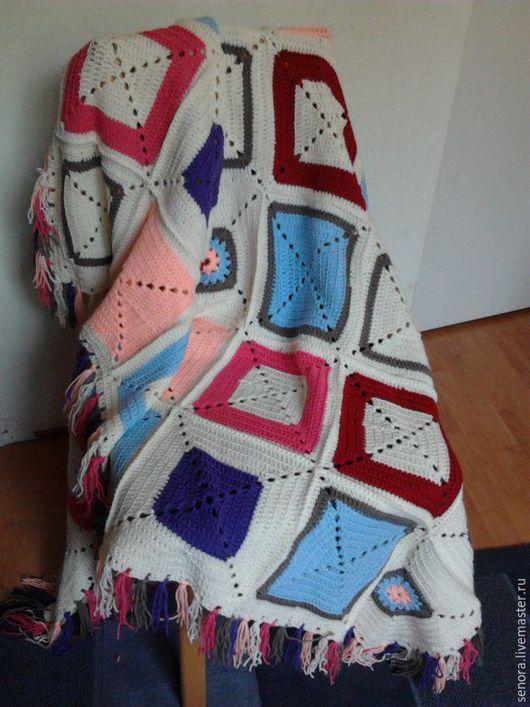 """Текстиль, ковры ручной работы. Ярмарка Мастеров - ручная работа. Купить Плед """"бабушкиными квадратами"""". Handmade. Комбинированный, для дома и интерьера"""