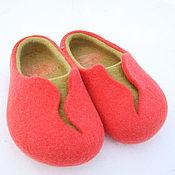 """Обувь ручной работы. Ярмарка Мастеров - ручная работа Тапочки """"Коралловые"""". Handmade."""