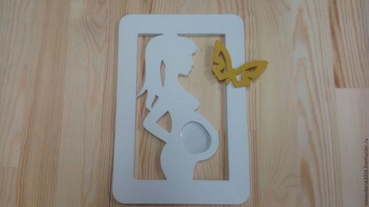 Элементы интерьера ручной работы. Ярмарка Мастеров - ручная работа. Купить Ждём малыша. Handmade. Фоторамка, дерево