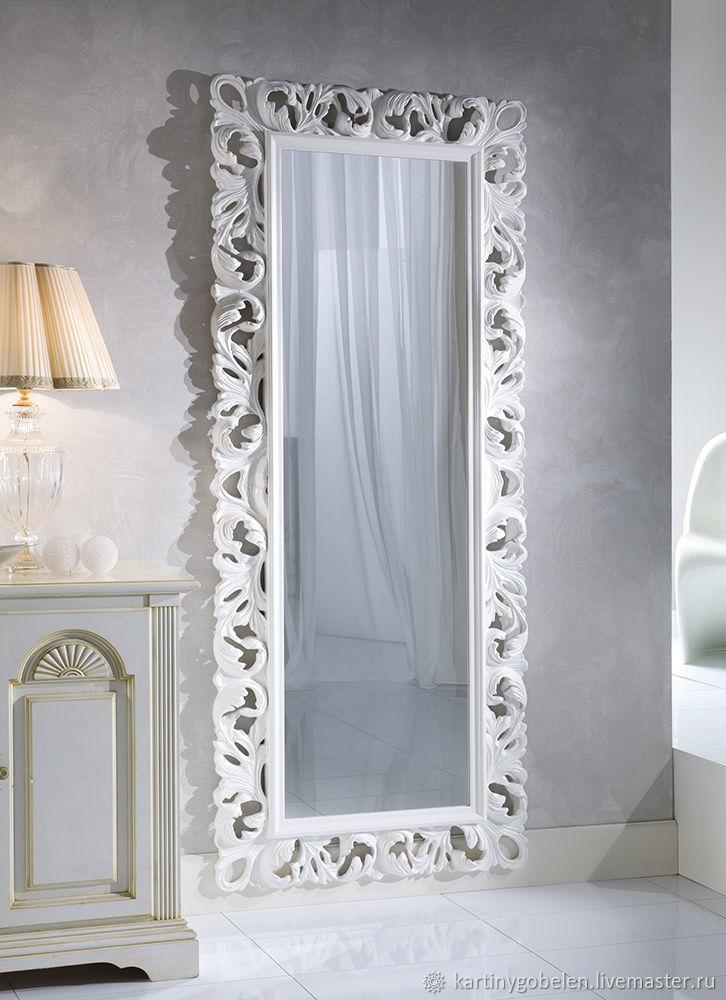 Зеркало большое в белой раме, Зеркала, Москва,  Фото №1