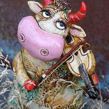 Сувениры и подарки ручной работы. Ярмарка Мастеров - ручная работа Корова со скрипкой. Handmade.