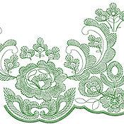 Дизайн и реклама ручной работы. Ярмарка Мастеров - ручная работа фестон - цветочный орнамент дизайн для машинной вышивки. Handmade.