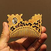 Сувениры и подарки ручной работы. Ярмарка Мастеров - ручная работа Гребень деревянный-Цапля (яблоня)ол7. Handmade.