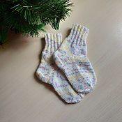 Работы для детей, handmade. Livemaster - original item Children`s socks are knitted of variegated. Handmade.